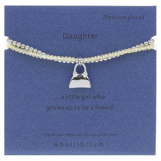 Daughter Platinum Plated Message Bracelet Thumbnail 1
