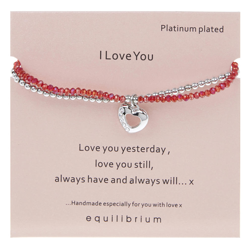 I Love You Platinum Plated Bracelet