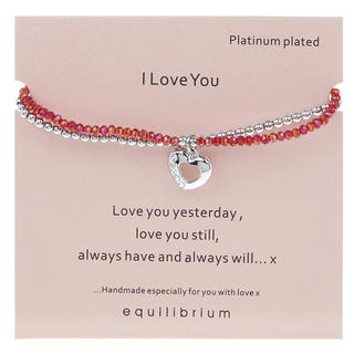 I Love You Platinum Plated Bracelet Thumbnail 1