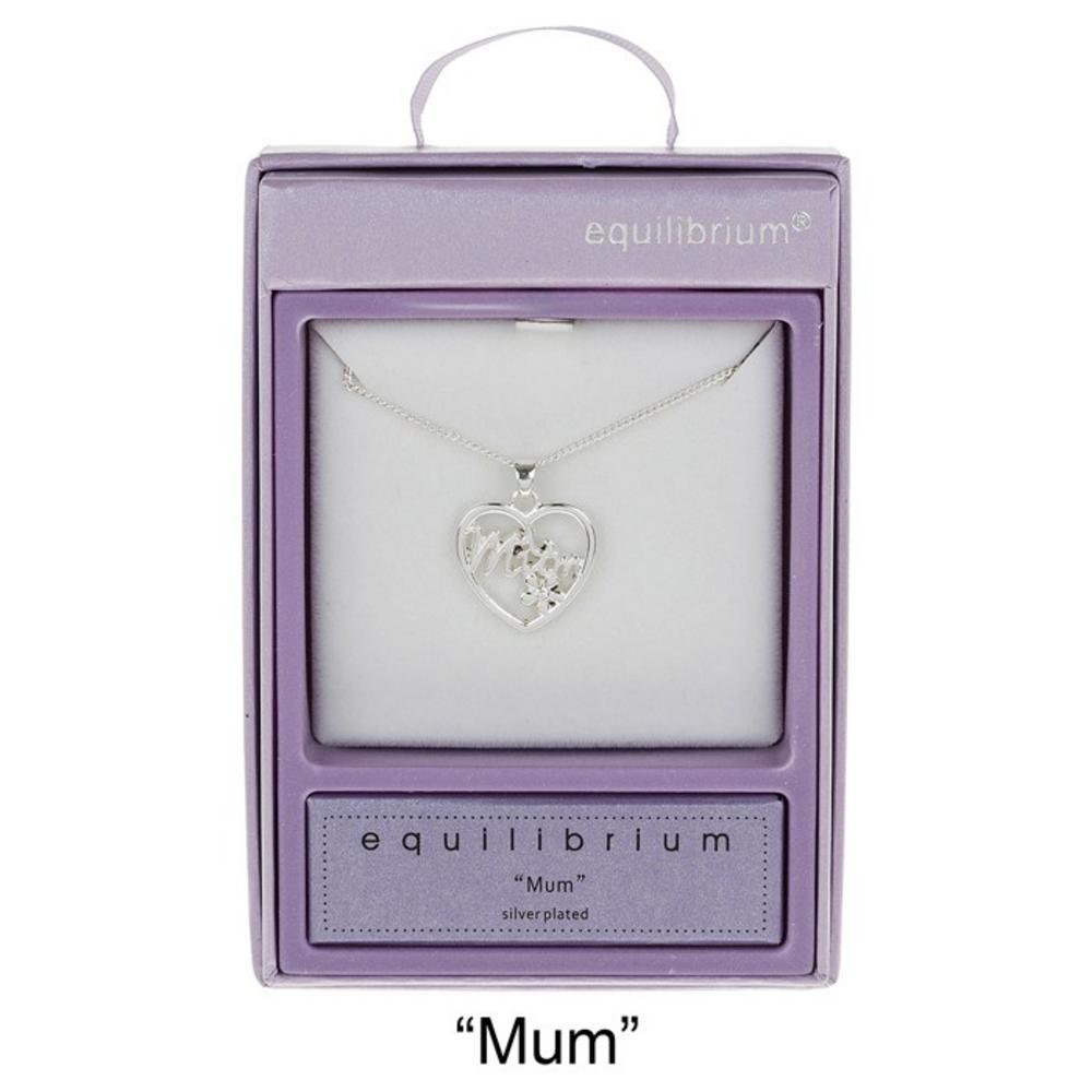 Filigree Heart Necklace Mum