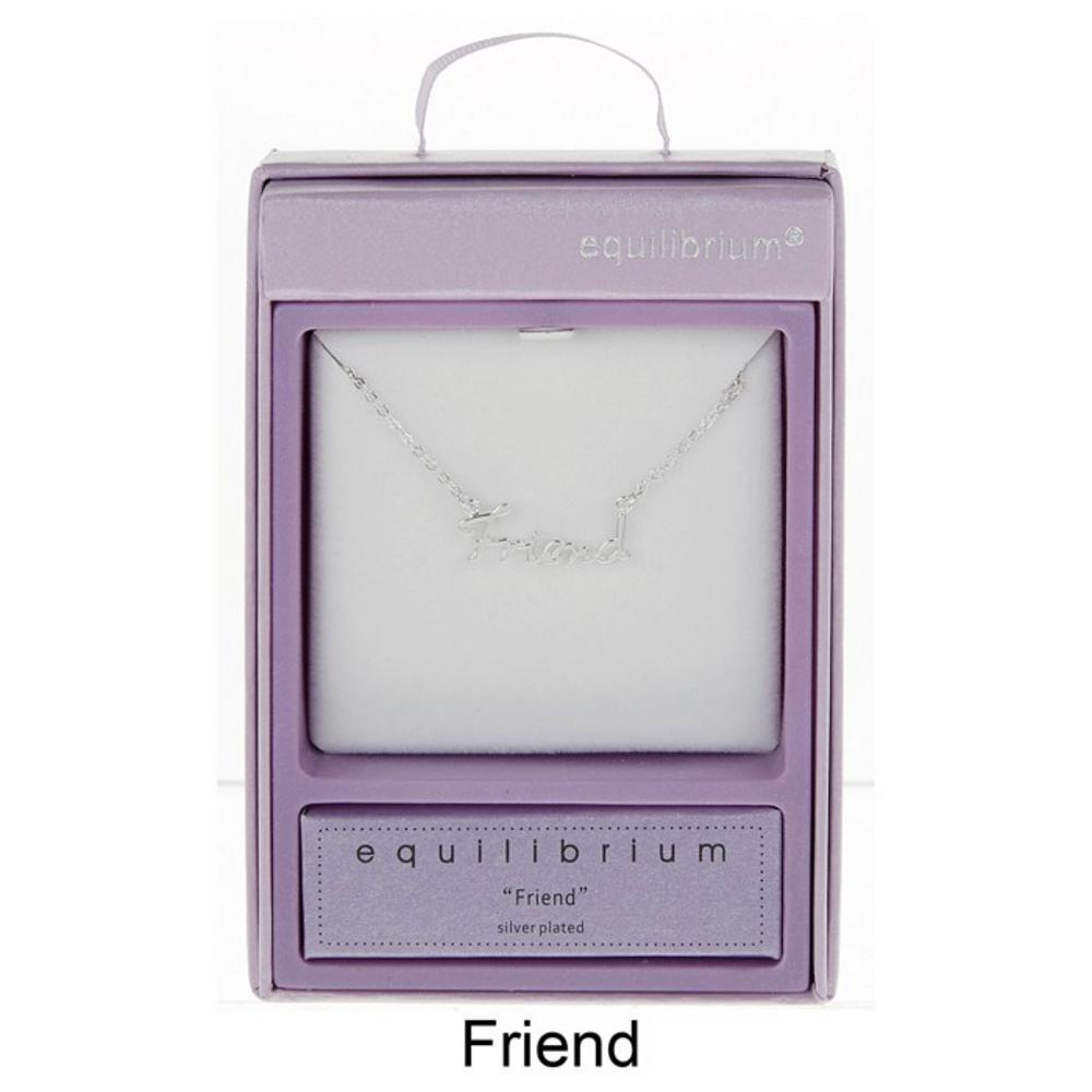 Friend Script Necklace
