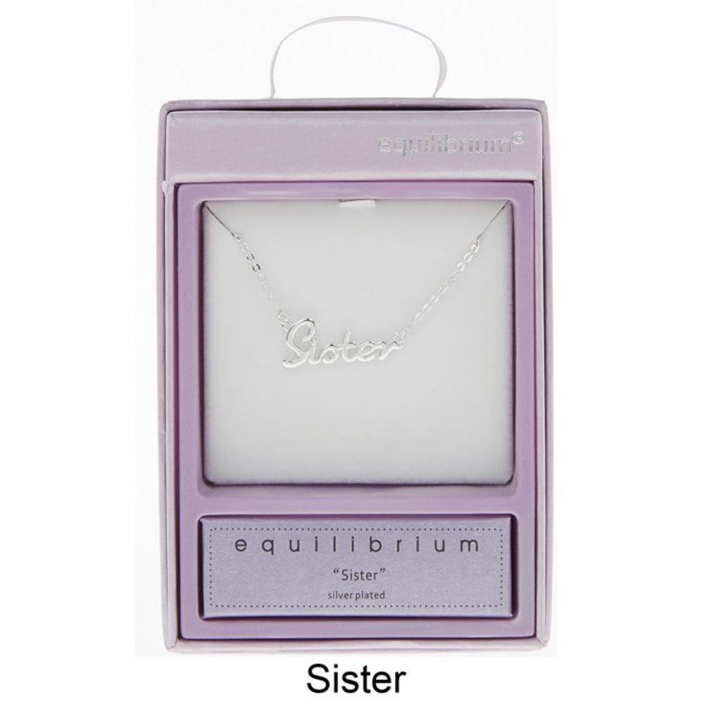 Sister Script Necklace