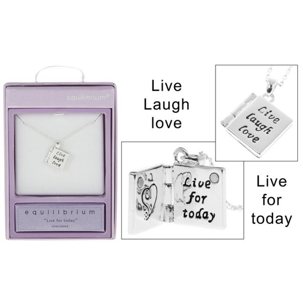 Book Charm Live Necklace