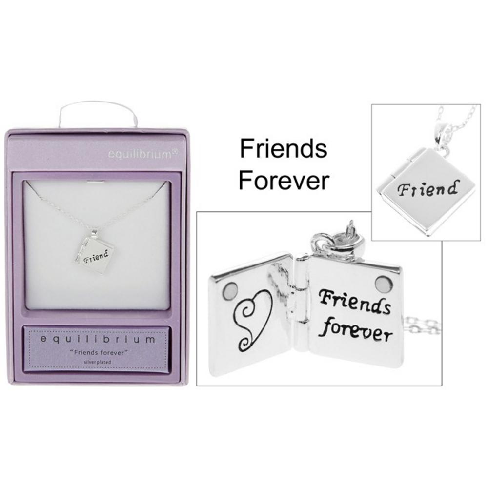 Book Charm Necklace Friends Forever