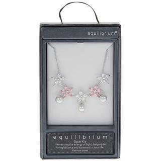 Platinum Pearl Necklace in Pink Thumbnail 1