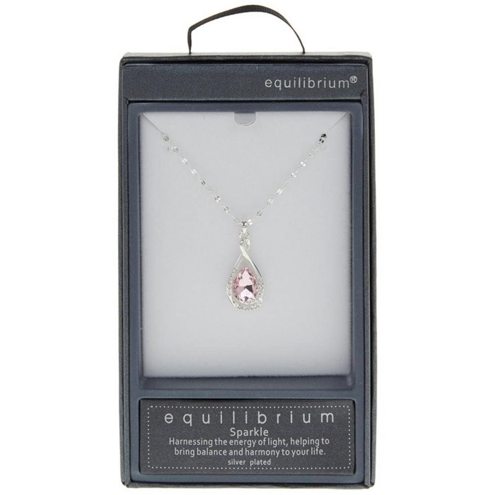 Pink Crystal Knot Necklace