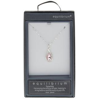 Pink Crystal Knot Necklace Thumbnail 1