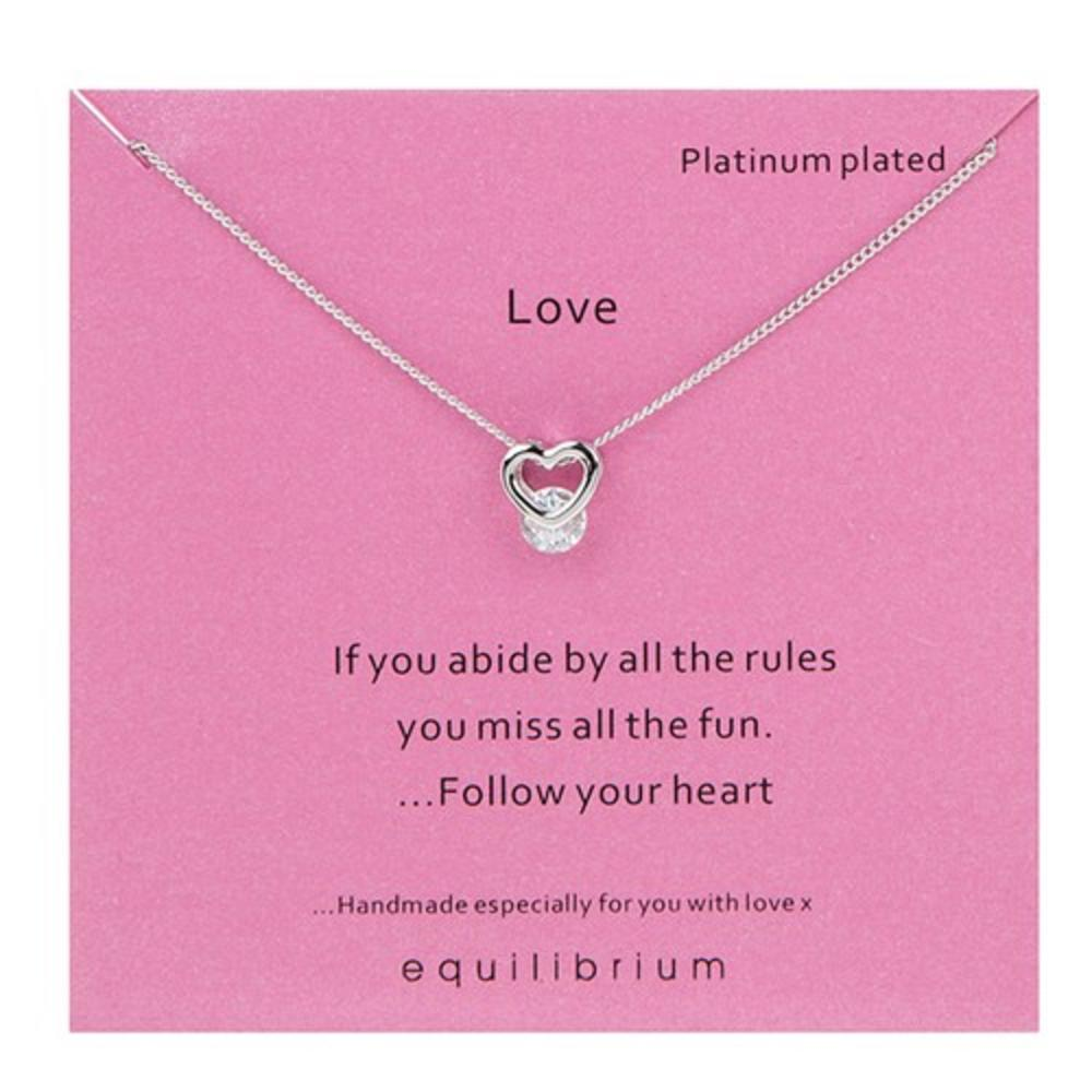 Platinum Plated Love Necklace
