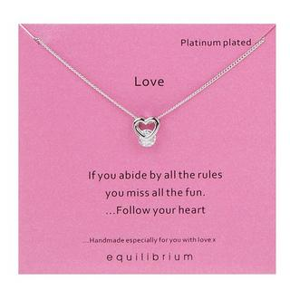 Platinum Plated Love Necklace Thumbnail 1