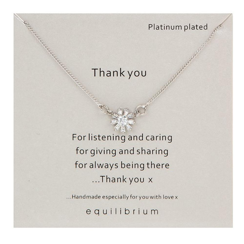 Thank you for listening sentiment necklace