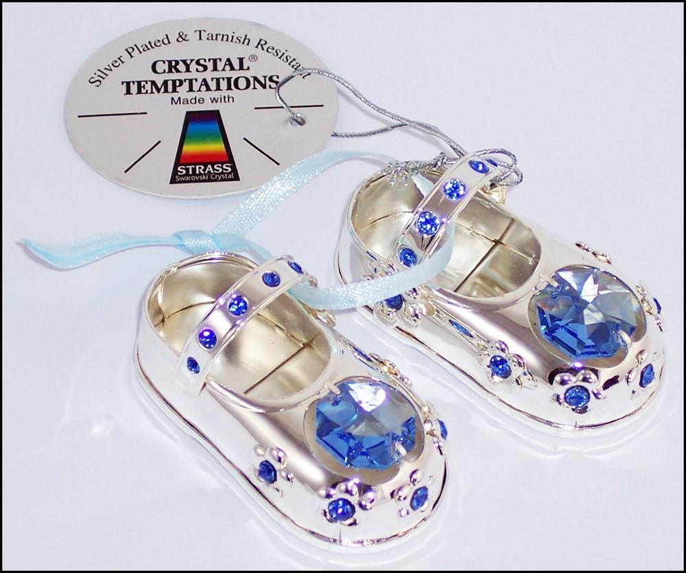 Silver Temptation Baby Shoe Blue 2.5Cm X 5Cm X 2.5Cm