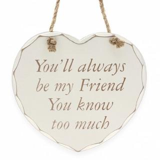 Shabby Chic Heart Friend Plaque Thumbnail 1