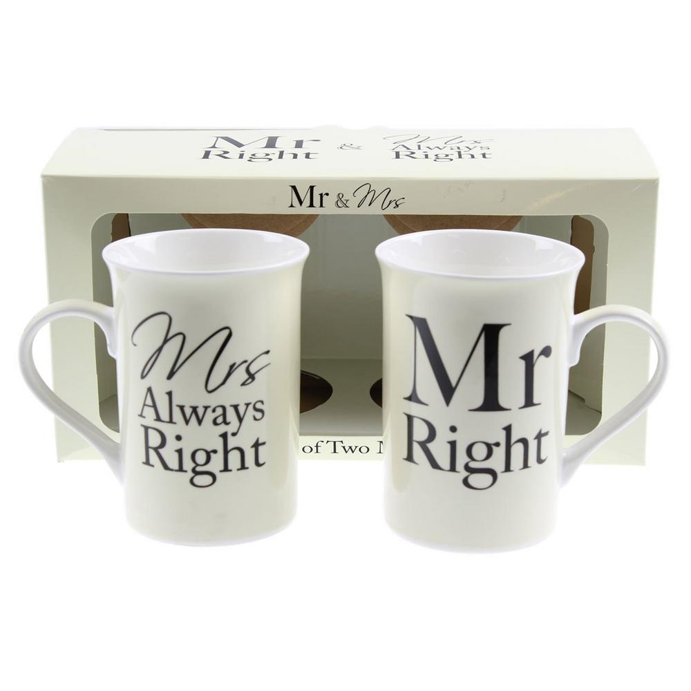 Mr & Mrs Right Mug Set