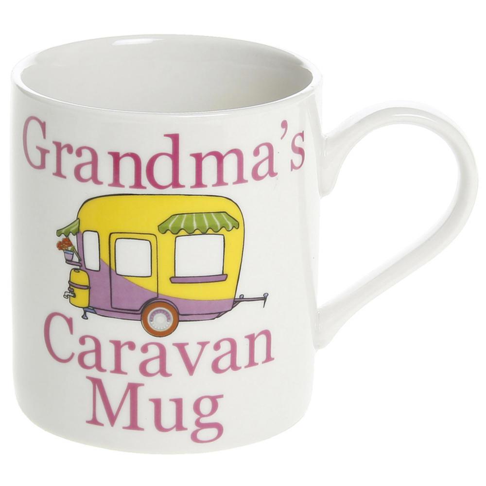 Grandma's Caravan Fine China Mug in Gift Box