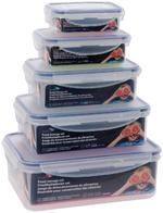 Set of Five Food Storage Containers