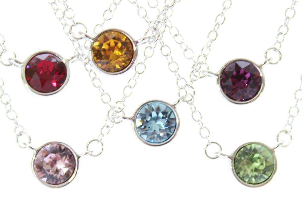 Pure Jewellery Swarovski Birthstone Necklace