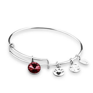 Pure Swarovski Birthstone Charm Bangle Thumbnail 1