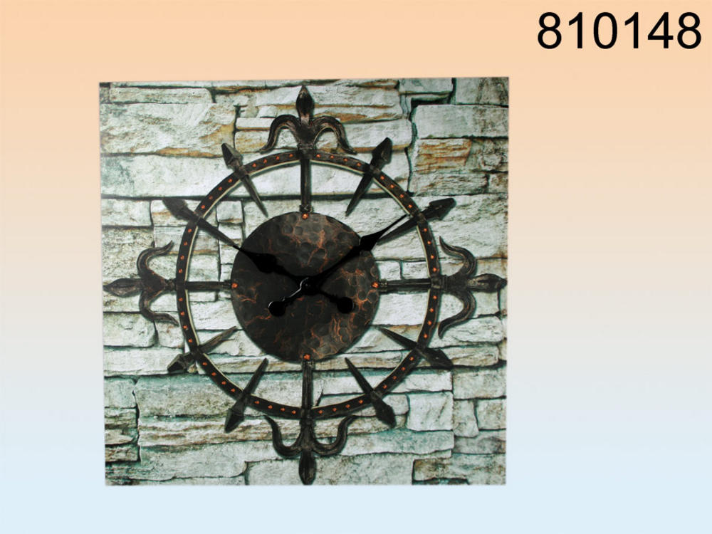 70cm Wall Clock with Stone Background