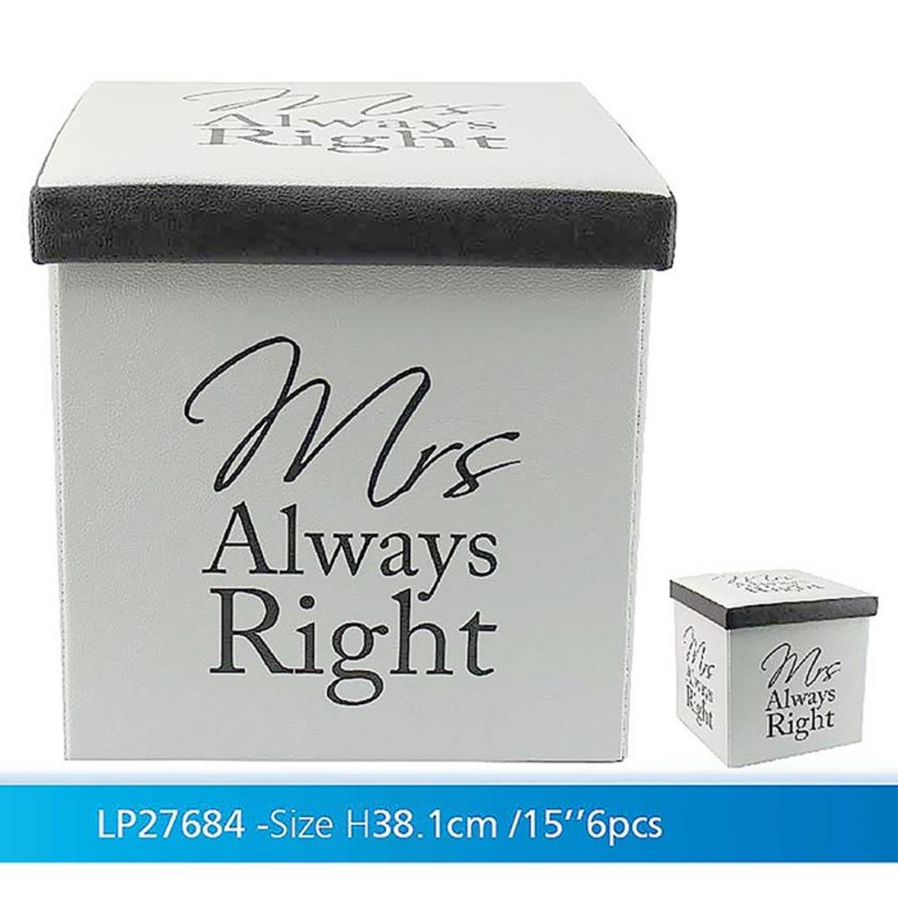 Fold Up Store Box Mrs Right