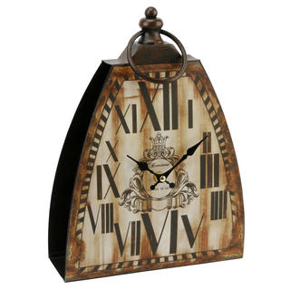 Hometime Fob Shape Mantel Clock Roman Dial Cream 'Tooting' W230 X H320 X D80 Thumbnail 1