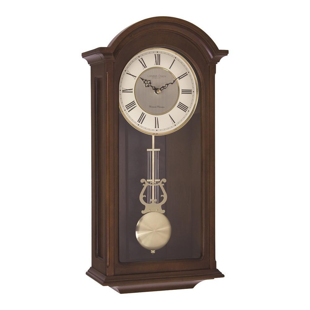 Solid Wood Walnut Pendulum Clock