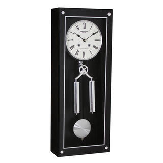 Dark Wood Pendulum Clock Thumbnail 1