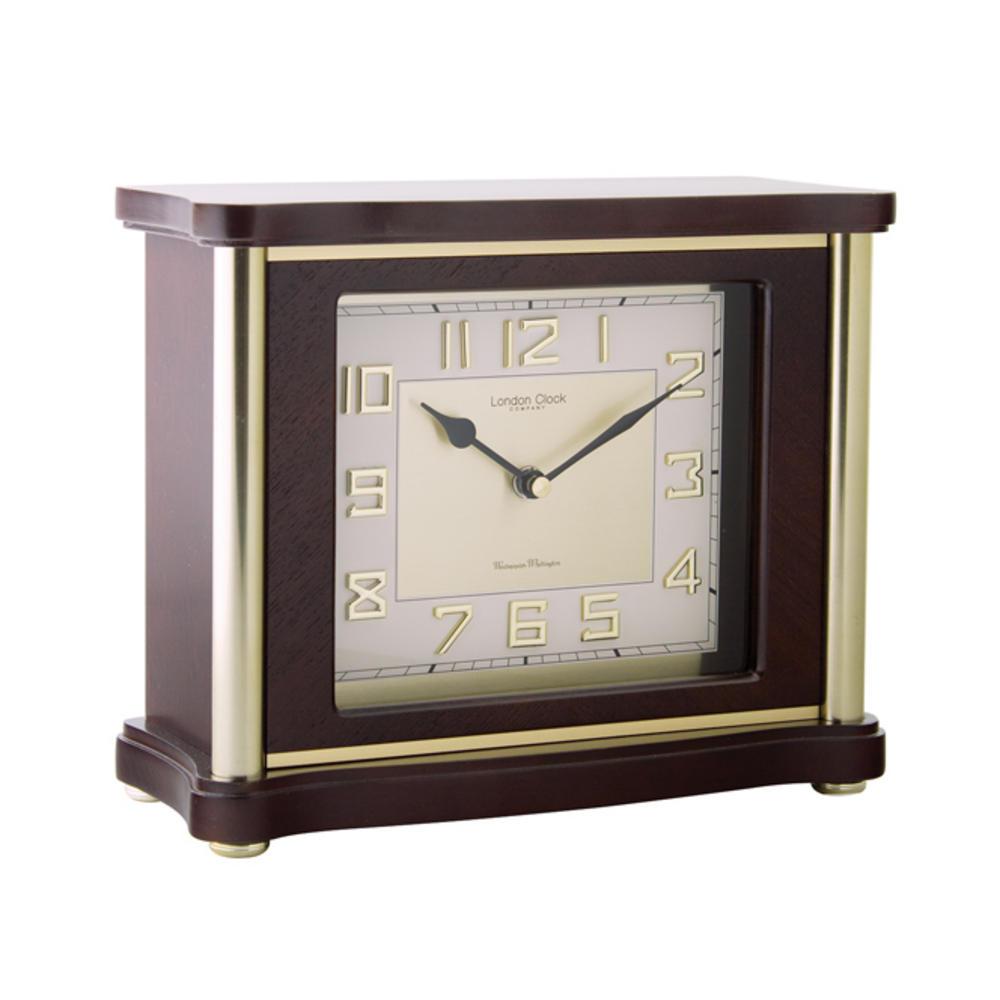 Traditional Flat Top Mantel Clock