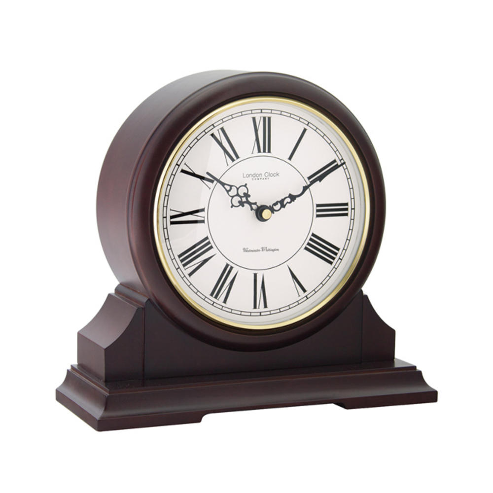 Round Top Mahogany Mantel Clock