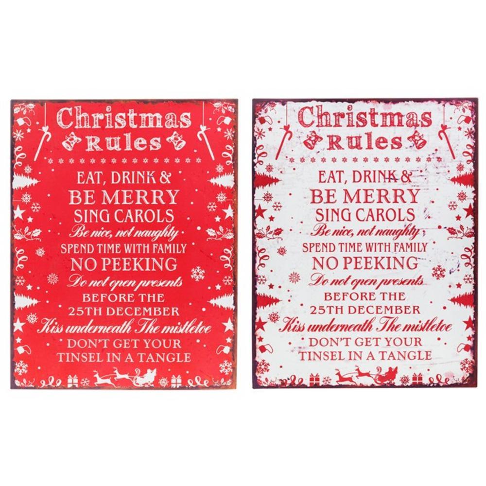 Shudehill Healines Christmas Rules Plaque