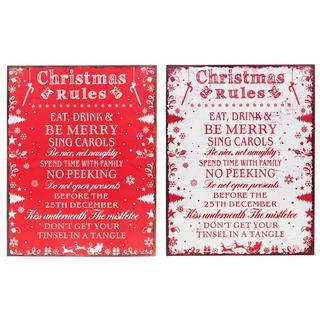 Shudehill Healines Christmas Rules Plaque Thumbnail 1