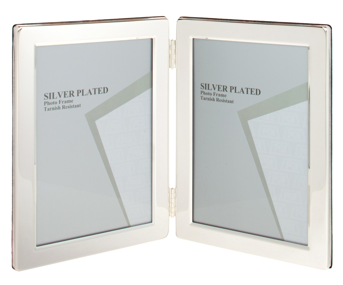 Silver Plated Double Picture Photo Frame 8\