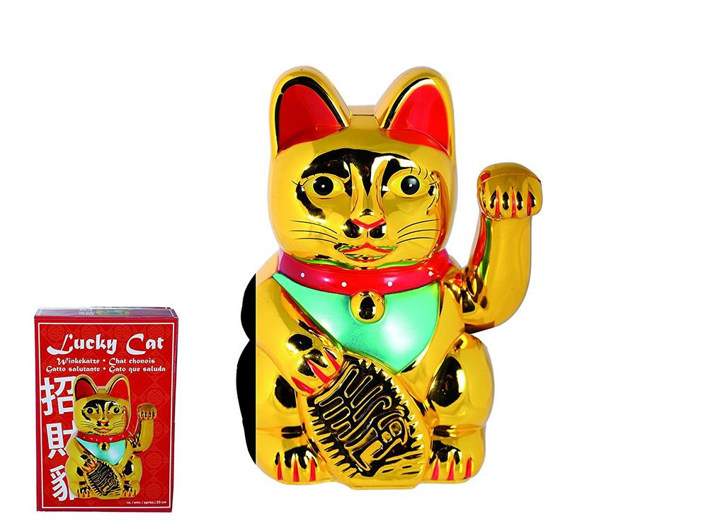 Out of the Blue Chinese Lucky Waving Cat