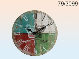Wooden Wall Clock Crown Logo D: 33 Cm Thumbnail 1