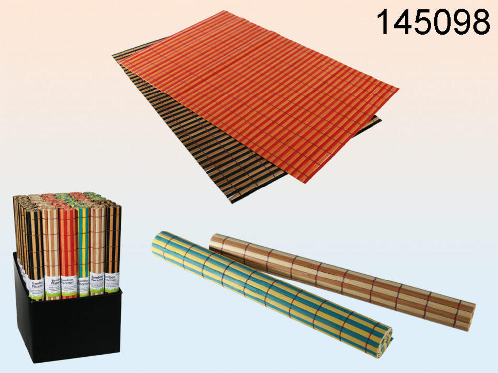 Bamboo Placemat Ningbo 45 X 30 Cm 4 Colours Assorted