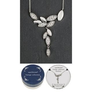 Vintage Collection Silver Solid Leaves Necklace Thumbnail 1