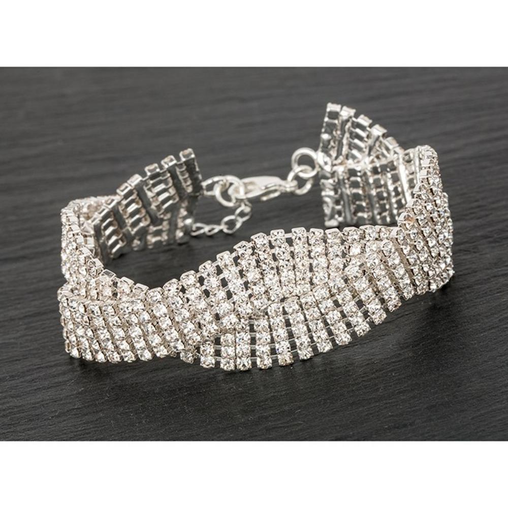 Silver Plated Multi Twist Bling Bracelet