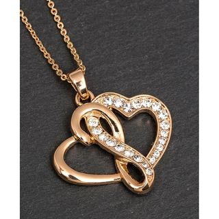 Gold Plated Entwined Hearts Necklace Thumbnail 1