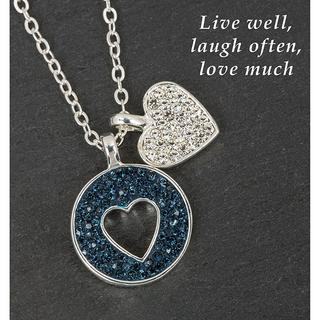 Silver Plated Midnight Sparkle Necklace Love Laugh Live Thumbnail 1