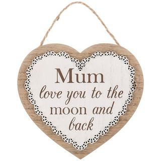 Chantilly Lace Heart Plaque Mum Love You To The Moon And Back Thumbnail 1