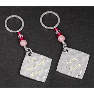"""Message""""Live Well Laugh Often Love Much"""" Keyring  Thumbnail 1"""