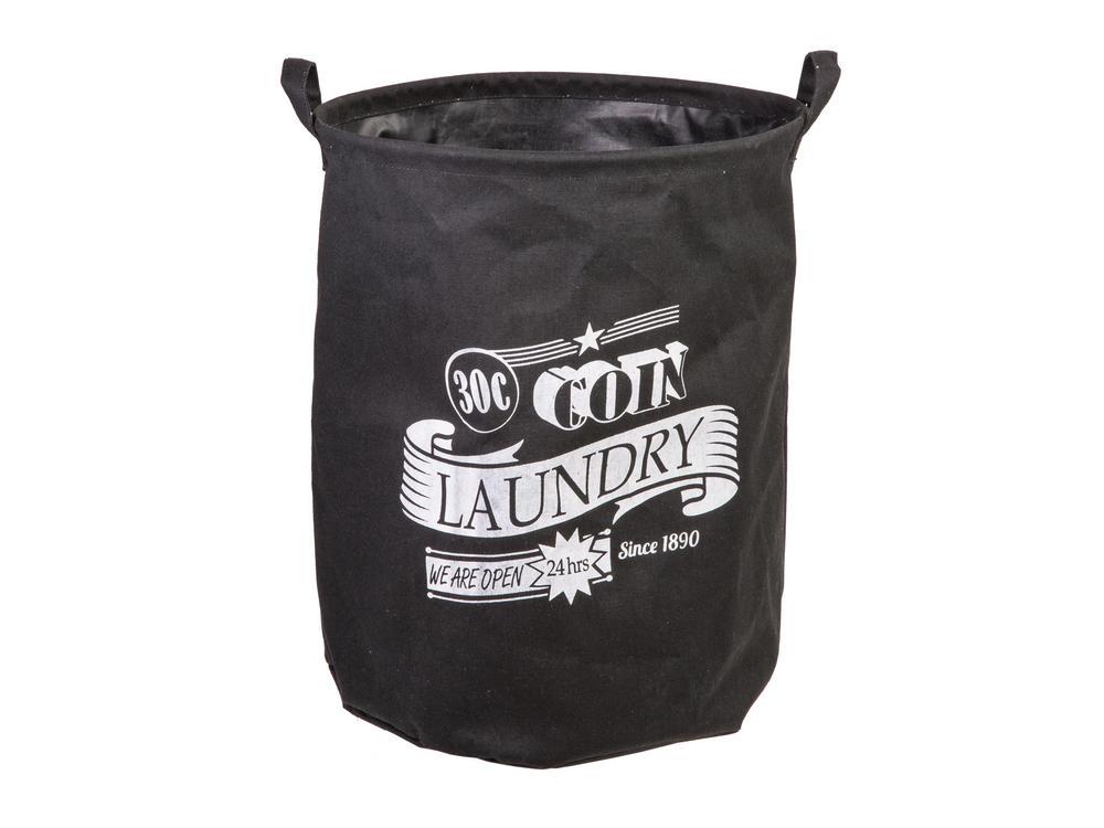 """Black Laundry Basket 45 x 36 Cm """"30 C Coin"""""""