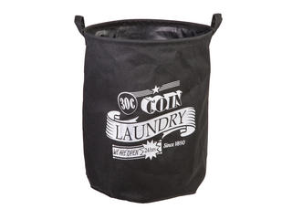 "Black Laundry Basket 45 x 36 Cm ""30 C Coin"" Thumbnail 1"