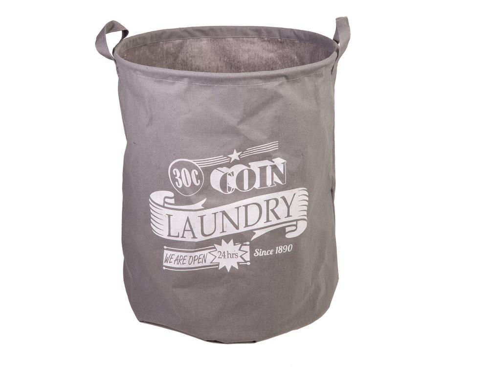 "Grey Laundry Basket 45 x 36 Cm ""30 C Coin"""