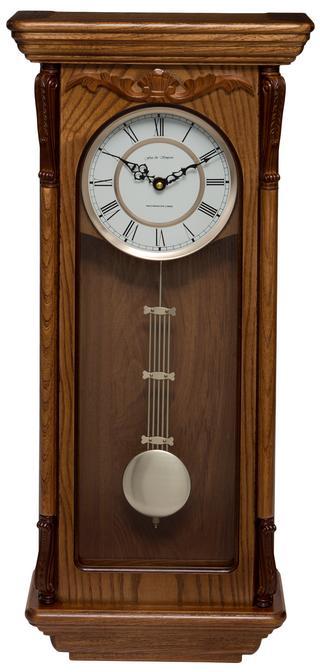 Aldersbrook Oak Pendulum Clock with Westminster Chimes Thumbnail 1
