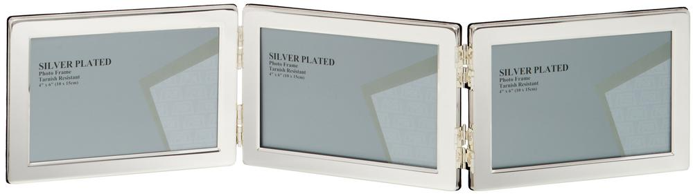 "Unity Silver Plated Landscape Triple Photo Frame 5"" x 7"""