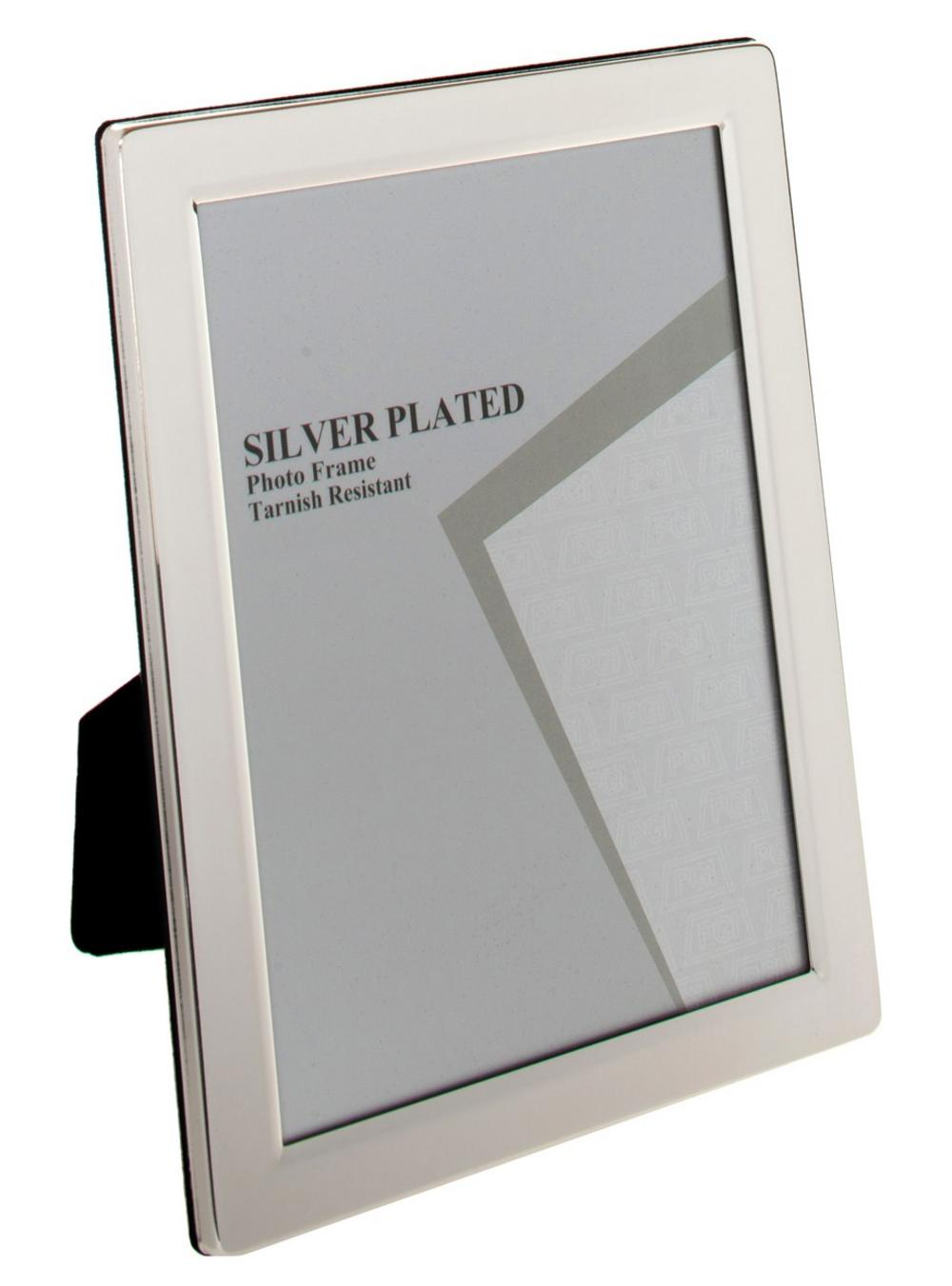 "Buy Silver Plated Flat Edge Photo Frame - 4""X6"", 5""X7"", 6""X8"" 10""X8"" Gift"