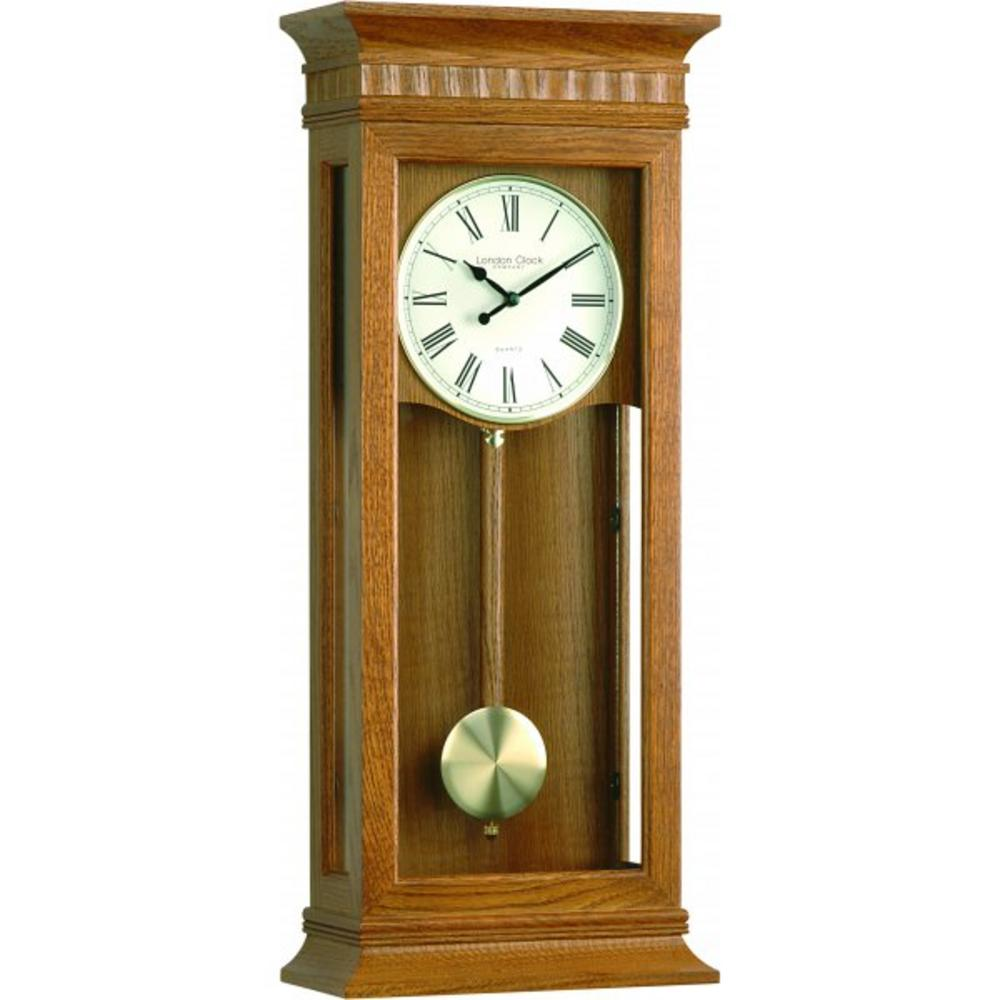 London Clock Company Extra Large Light Oak Westminster Pendulum Wall Clock