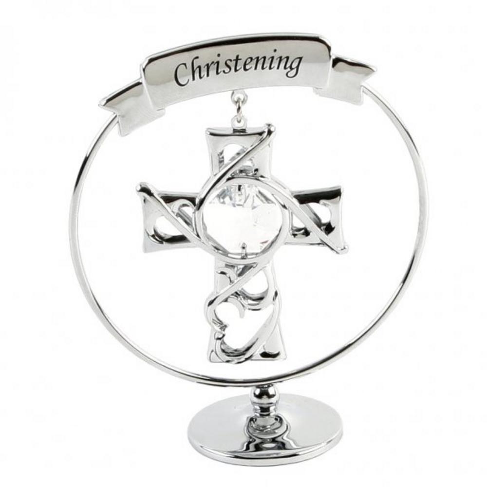 Crystocraft Swarovski Cyrstal Elements Gift - Christening Crystal Cross