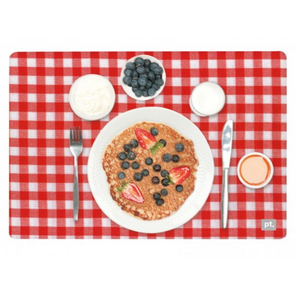 Pt Home Three Dimensional 3D Blueberry Pancake Place Table Dining Placemat Mat