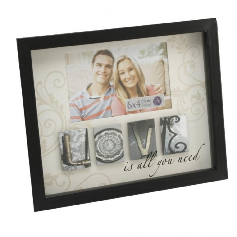 New View Mdf Photo Phrases Frame - Love Theme